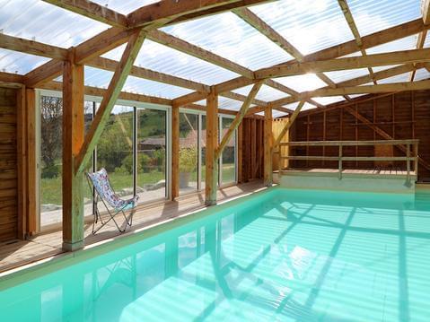 Gite de groupe avec piscine bassin chauffé