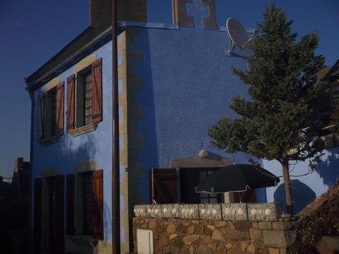 la maison bleu de Loguivy de la mer