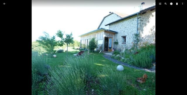 chambre avec vue sur la vallée de la Dordogne