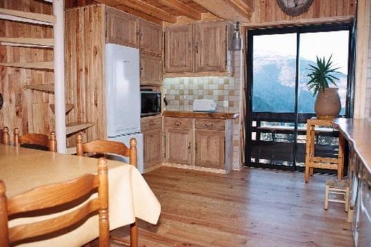 Bel  appartement tout en bois au pied des pistes