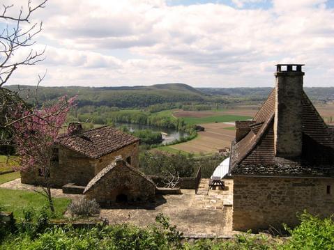 Maison Périgord Noir, vue aérienne vallée Dordogne