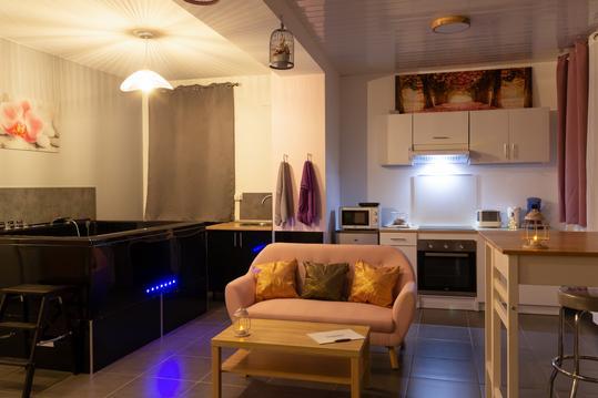 Appartement avec jacuzzi et sauna