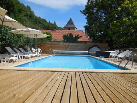 Gîte 8 pers av piscine chauffée, SPA, parc & wifi