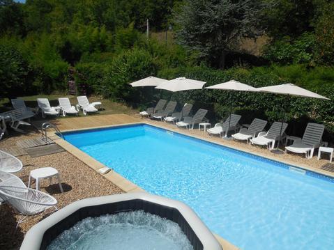 Gite 3 pers av piscine chauffée, SPA, parc & wifi