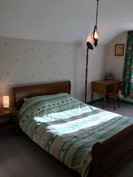 Chambre verte de La Ferme aux Chevaux